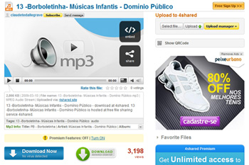 Download de músicas