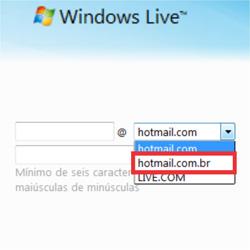 Como criar email @ hotmail.com.br