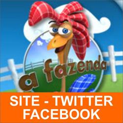 A Fazenda 7 R7 – Site, Twitter e Facebook