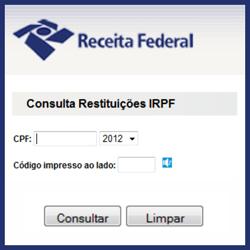Consulta Restituição IRPF 2012
