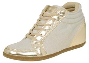 Sneaker Djean Modelo Dourado