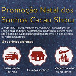 Promoção Natal Sonhos Cacau Show