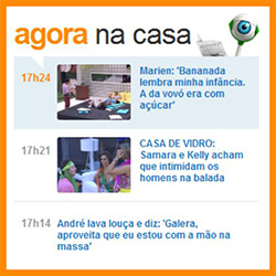 BBB15 Ao Vivo em tempo real no site da Globo