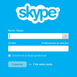 Fazer login e entrar no Skype