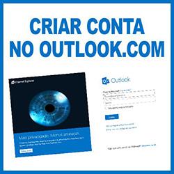 Criar conta de email no Outlook.com