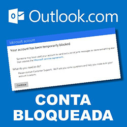 Outlook.com bloqueada temporariamente