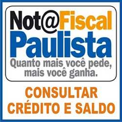 Consultar saldo e crédito do Nota Fiscal Paulista
