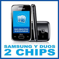 Smartphone Samsung Y Duos funciona com 2 chips