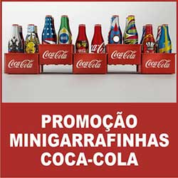 Promoção Mini Garrafinhas Coca Cola