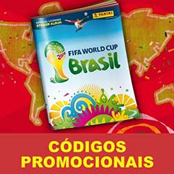 Códigos Promocionais do Álbum Virtual da Copa 2014 FIFA